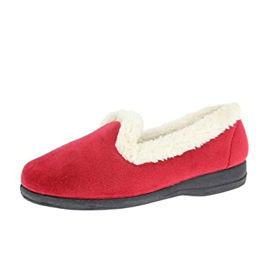 ce97a9a6ac Silentnight Heavenly Feet Poplar Slippers Red - UK7 / EU 41, Red: Amazon.co. uk: Shoes & Bags