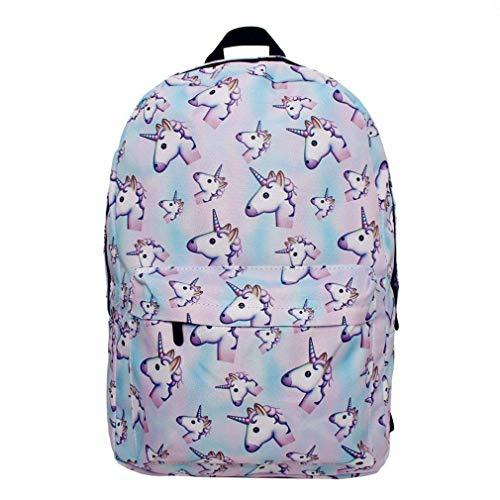 FORSHUYU Backpack 3D Printing Travel School Backpack for Teenage Girls.
