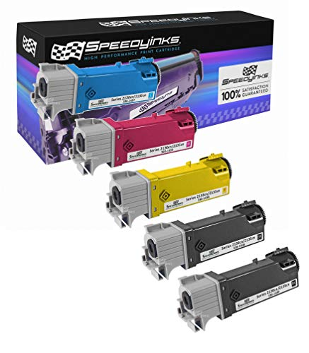 Speedy Inks Compatible Toner Cartridge Replacement for Dell 2130cn High-Yield (2 Black, 1 Cyan, 1 Magenta, 1 Yellow, 5-Pack)