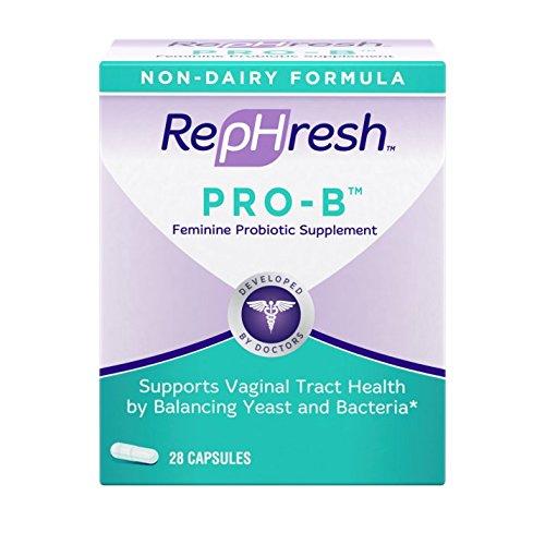 RepHresh New Pro-B Feminine Probiotic Supplement Non-Dairy Formula/Vegetarian Capsule