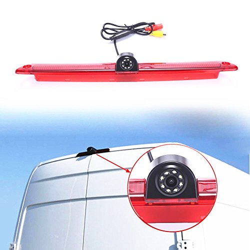 Car Third Roof Top Mount Brake Lamp Camera Brake Light Rear View Backup Camera for Express GMC GM Chevy Savana Cargo Van Master Dachkamera/Bremslicht/Bremsleuchte/Brake Lamp