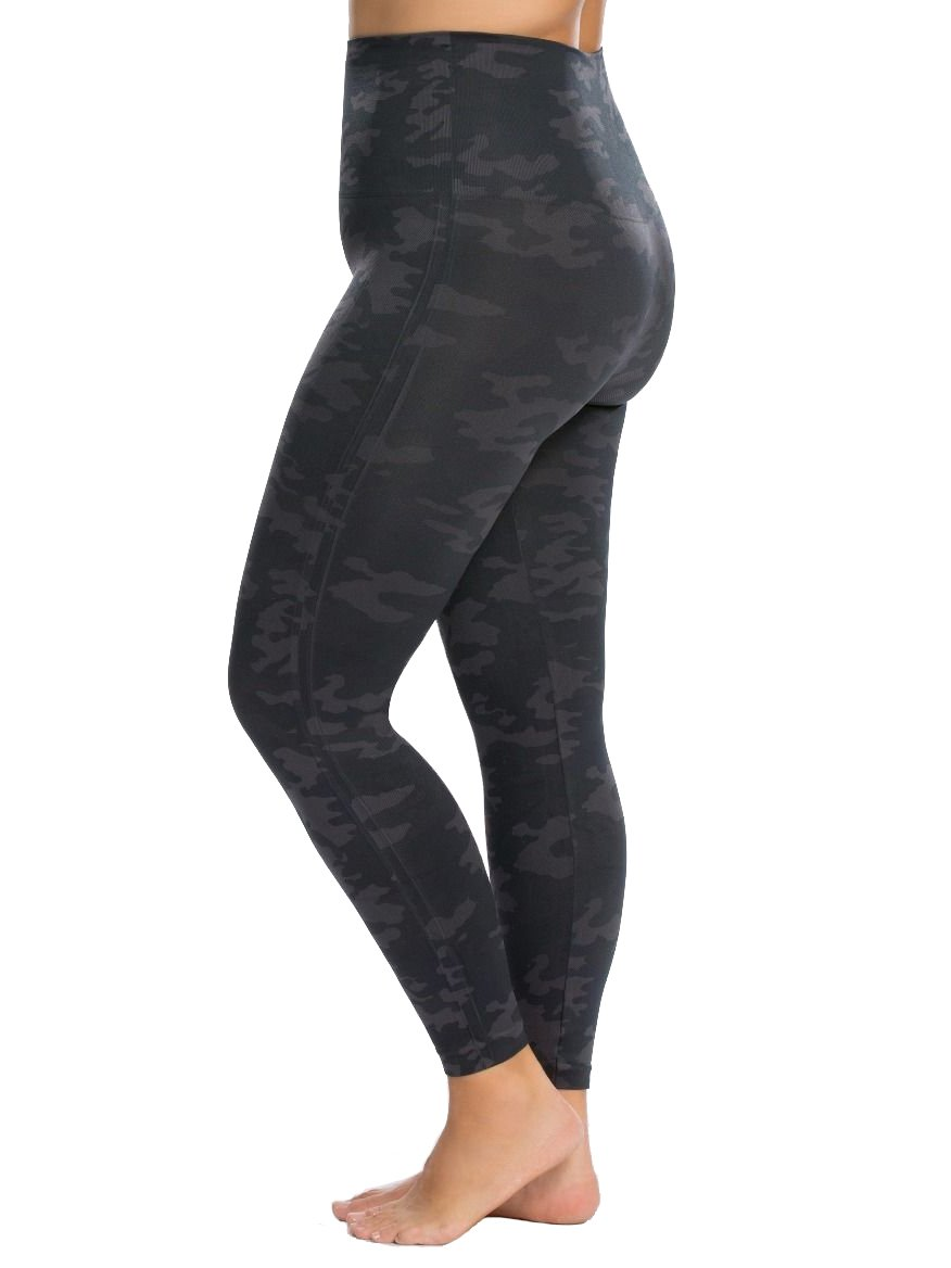 SPANX Plus Size Look at Me Seamless Leggings, 1X, Black Camo by SPANX (Image #2)