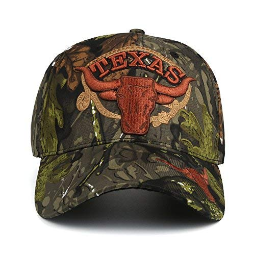 Camouflage Baseball Cap Adjustable Texas Embroidery Hunter Fishing Dad Hat f87a5c463e45
