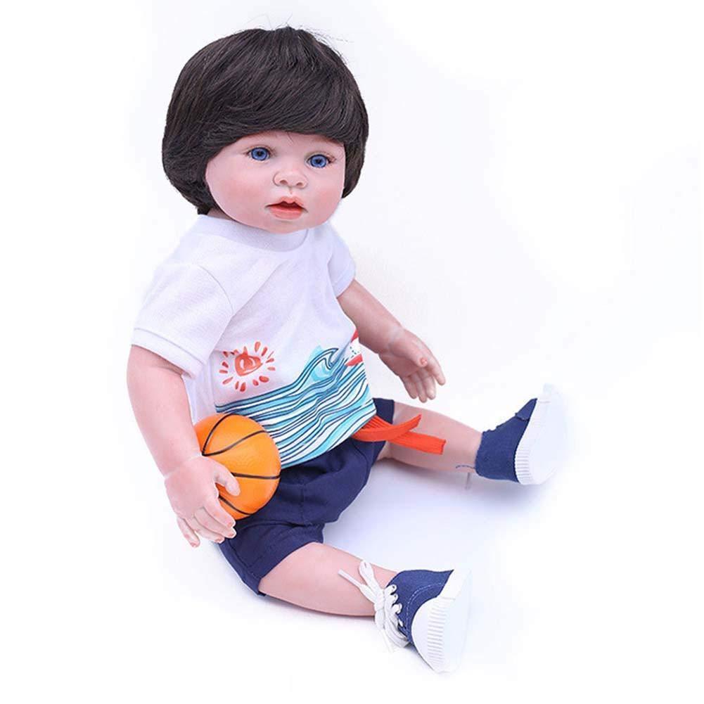Wovemster 45 cm Reborn Doll, Silicona Artificial, Simulation bebé Cuerpo Completo Gel secador Peut imitando bebé baño niño, Mignon y réaliste, ...