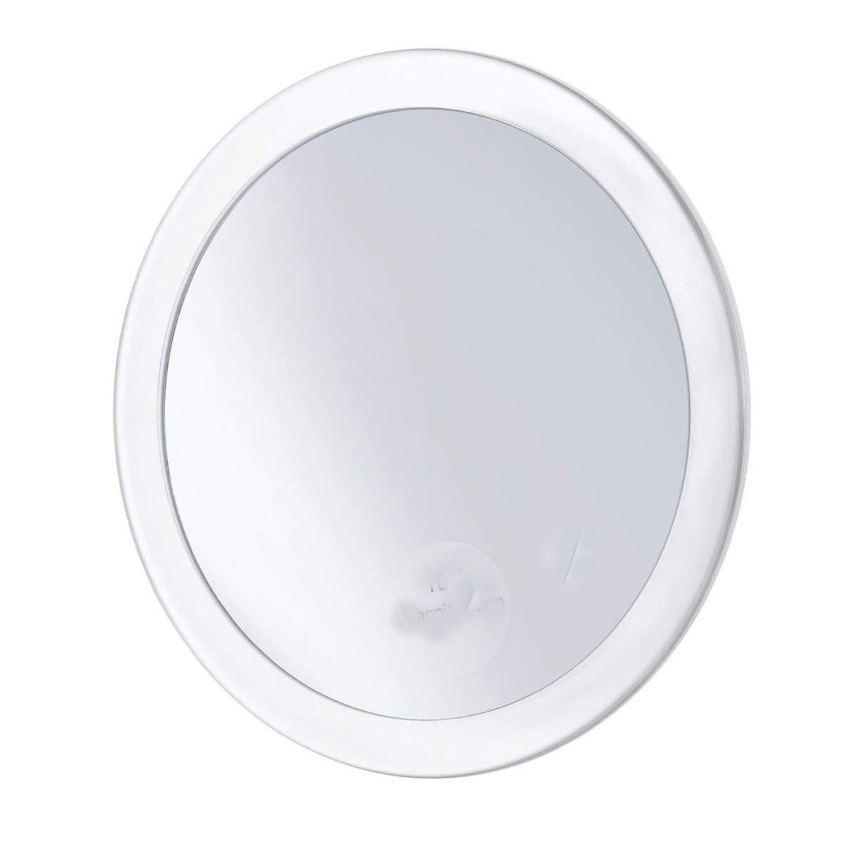 Xelparuc 10x specchio ingranditore con 3ventose, cosmetici make up specchio specchietto tascabile da 15cm (bianco)