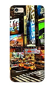 First-class Case Cover Series For Iphone 6 Plus Dual Protection Cover Times Square New York Usa City Cities Neon Lights Traffic Night XtcLIgG3187DLbWU