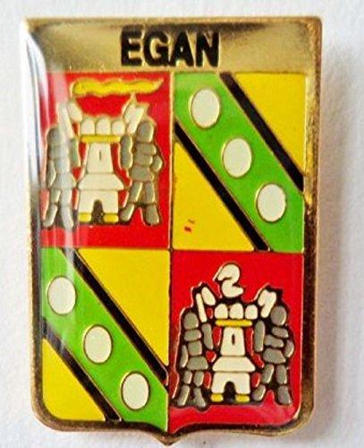 (Egan Irish Ireland Family Surname Coat of Arms Pin Badge)