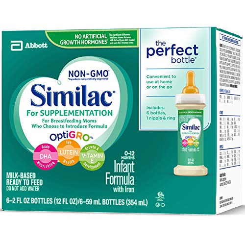 Similac For Supplementation Infant Formula with Iron, Ready-to-Feed Bottles, 2 Ounce, (Pack of 48) by Similac For Supplementation (Image #6)