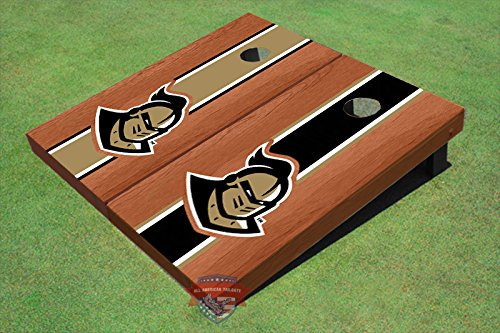 University of Central Florida '' Knightro'' Rosewood Alternating Long Stripe Cornhole Boards UCF 4119 by All American Tailgate (Image #2)