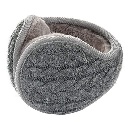 Metog Unisex Foldable Ear Warmers Polar kints Winter EarMuffs (Gray, One Size)