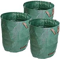 ValueHall 3 Packs Garden Bag Garden Waste Bags Reusable Leaf Bags Reusable Heavy Duty Gardening Bags Yard Waste Bags...