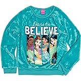 Disney Princess Girls' Dare to Believe Crew Neck Sweatshirt (XL (14-16))