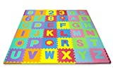 Matney Kid's Foam Floor Alphabet Puzzle Mat, Multicolor (36Piece)