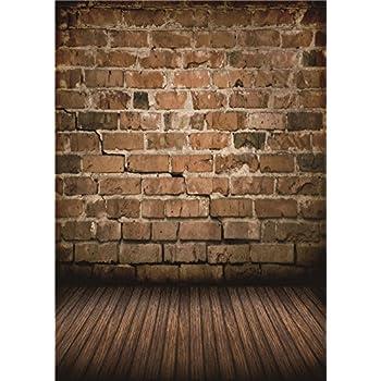 Daniu Brick Wall Vinyl Photo Background Children photo studio Retro  Photography Backdrops Wood Floor 5x7FT BJ257