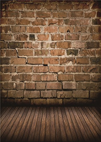 Daniu Brick Wall Vinyl Photo Background Children Photo Studio Retro Photography Backdrops Wood Floor 5x7FT BJ257 -