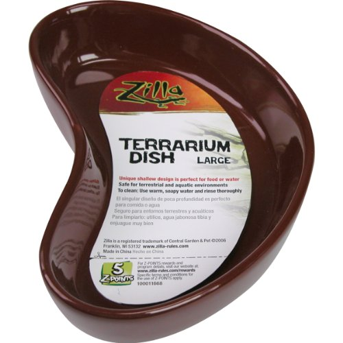 - Zilla Terrarium Dish, Large, Colors Vary