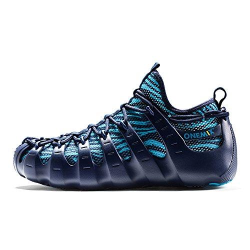 Onemix Heren Luchtkussen Loopschoenen Blauw