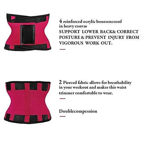 JRing Women's Waist Trainer Belt, Waist Trimmer Slimming Waist Shaper with Dual Adjustable Belly Trainer for Waist Sport Shaper Pink, X-Large(Fit 35.4