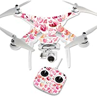 MightySkins Protective Vinyl Skin Decal for DJI Phantom 3 Standard Quadcopter Drone wrap cover sticker skins Pink Petals