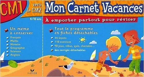 Livre gratuits Mon Carnet Vacances CM1 pdf epub