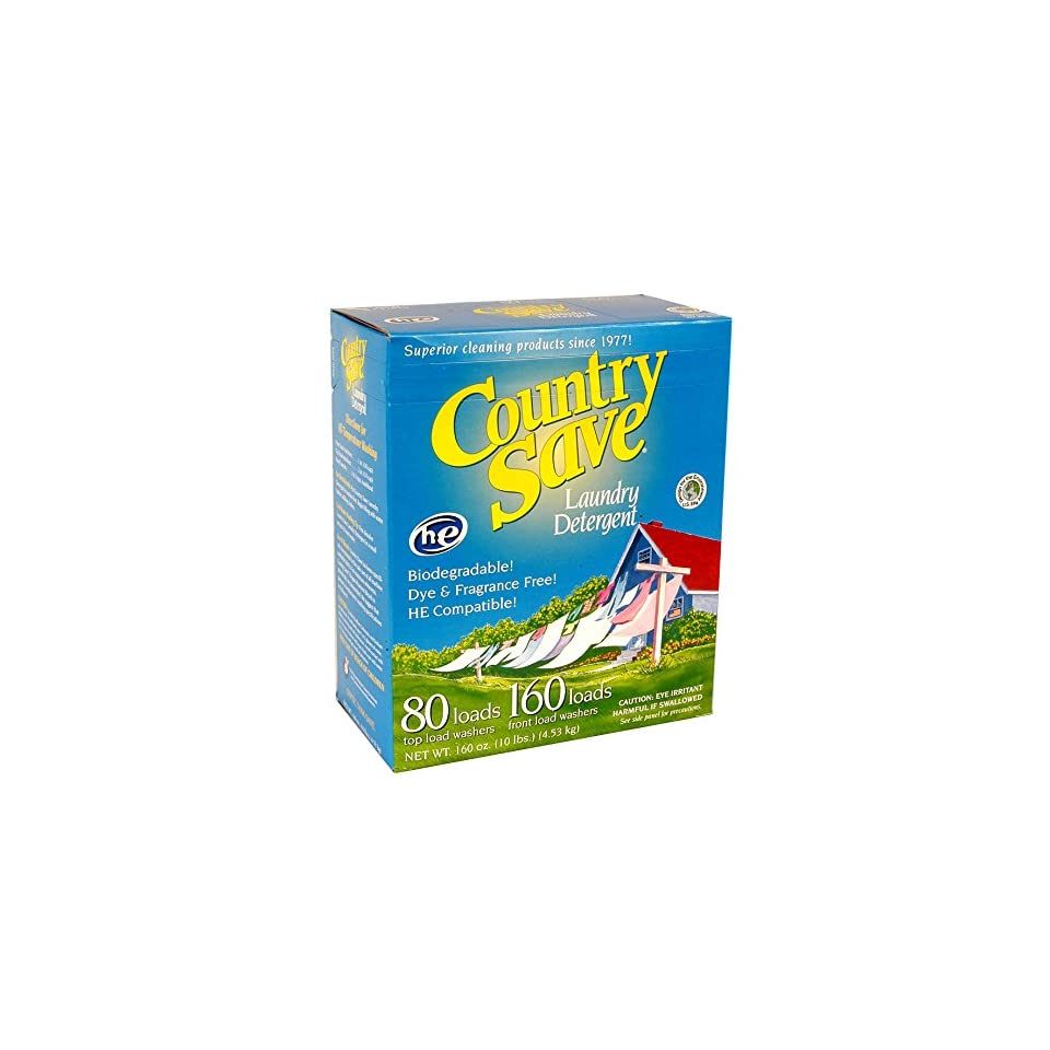 Country-Save-HE-Laundry-Detergent-Powder-160-Load-10-lb-Boxes-Pack-of-4