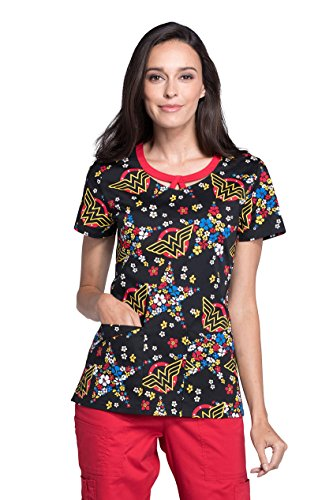 Tooniforms Women's Round Neck Top_Star Flower_M,TF653