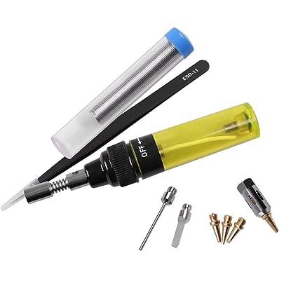 Starnearby Soldador de hierro, multifuncional, ajustable, temperatura de gas, soldadura electrónica,