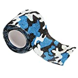 Gilroy 5CM X 4.5M Outdoor Camo Camouflage Wrap Tape for Hunting Rifle Gun Cycling Tool - Blue