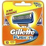 Cuchillas de afeitar para hombres Gillette Fusion, 12unidades