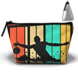 Colourful Water Polo Silhouette Distressed Makeup Storage Holder Travel Cases Cosmetic Bags Large Capacity