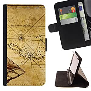 For Sony Xperia M5 Map Ancient Britain Geography Eart Continent Style PU Leather Case Wallet Flip Stand Flap Closure Cover