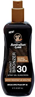 product image for Australian Gold Spf#30 Spray Gel With Bronzer 8 Ounce (237ml) (2 Pack)