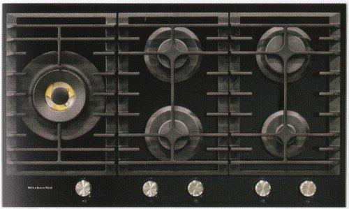 KitchenAid - Piano Cottura a Gas KHGD5 86510 Finitura Vetro Nero ...