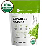 Organic Japanese Matcha Green Tea Powder by Kate Naturals - Certified Organic from Japan. Culinary Grade for Smoothies, Lattes, Baking, Weight Loss. Boost Energy, Focus (100g - Value Size)