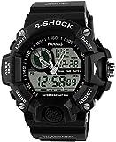 Fanmis Men's Analog Display LED Watches Military Multifunctional Waterproof Quartz Sport Wrist Watch