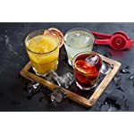 Cucisina Lemon Squeezer / Lime Juicer / Citrus Press - Commercial Grade Aluminum (Red) 16 Juices lemons, limes, and oranges quickly with ease Get every last drop with no pulp No more irritation from citrus juices on your hands