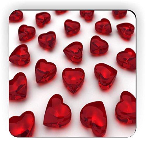 Rikki Knight Glass Hearts Color Design Square Fridge Magnet