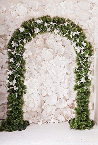 Amazon wedding photo backdrop 6ft9ft yeele vinyl white flower wedding photo backdrop 6ft9ft yeele vinyl white flower arch wedding decoration backdrops for photography mightylinksfo