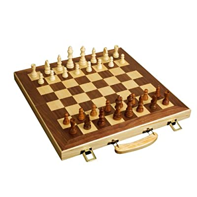 16 Wood Folding Chess Set