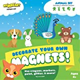 Decorate your own Magnets (ANIMAL SET) Puppy, Cat, Peacock, Bunny, Bear and 3 MORE!