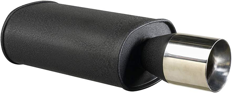Autostyle Ds 15019 Sportauspuff Universal 1x102mm Rund 63 5mm Anschluß Auto