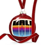 Christmas Decoration Retro Cites States Countries Bali Ornament