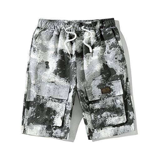 - Men's Summer Leisure Camouflage Overalls Fashion Multi-Pocket Trousers, Mmnote