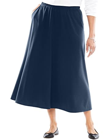 ac2be9804620 Woman Within Women s Plus Size A-Line Ponte Skirt