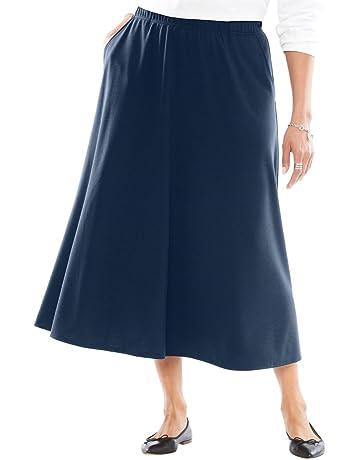 ffce7b7b31ea5 Woman Within Women s Plus Size A-Line Ponte Skirt