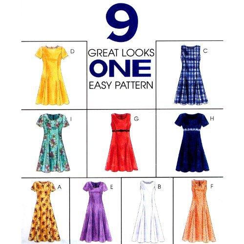 Princess Seam Dress Pattern - 1