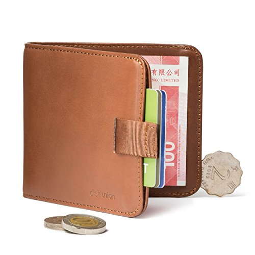 distil-union-wally-euro-slim-leather-wallet-money-clip-coin-pocket-hickory-with-flexlock