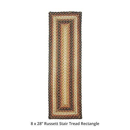 Homespice decor rectangular russet stair treads