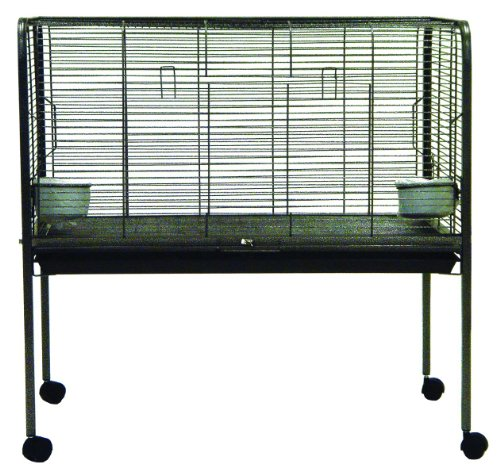 YML Small Animal Rabbit Cage on Stand, Antique - Antique Rabbit