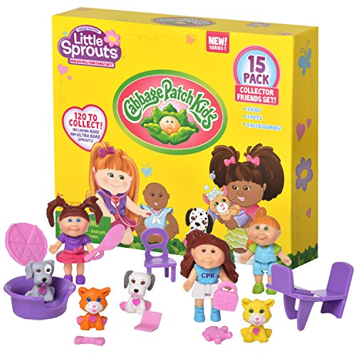 Cabbage Patch Kids Little Sprouts Collector Friends 15 Pack - Perfect for any Girls Small Doll - Little Collection Sprout